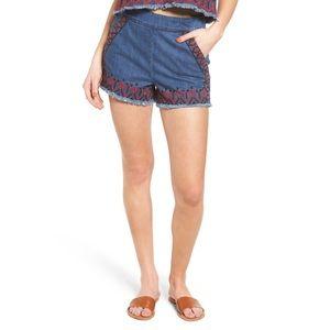 Blank NYC Cutoff Shorts Embroidered High waist
